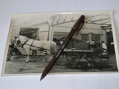 vintage photograph Leicester fire brigade Horse Drawn used as press photo