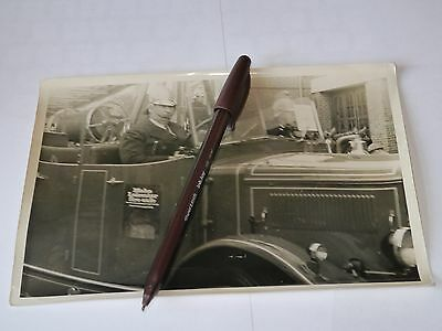 vintage photograph Leicester fire brigade  size 8 by 5.5 inches