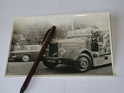 vintage photograph Leicester fire brigade took when moving size 8 by 5.5 inches