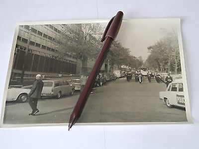 vintage photograph Leicester fire brigade march in town