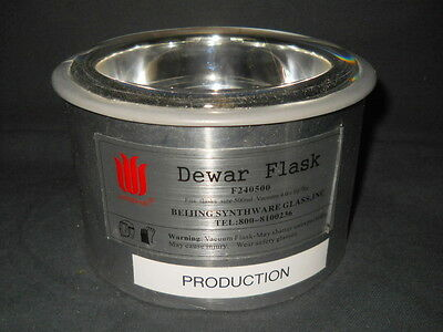 Beijing Synthware 500mL Hemispherical Low Form Dewar Flask, No Stopper, F240500