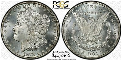 1878-S $1 Morgan Silver Dollar PCGS MS65 Secure Gold Labeled Holder