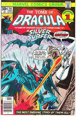 Tomb Of Dracula 50 - Silver Surfer App (Bronze Age 1976) - 7.5