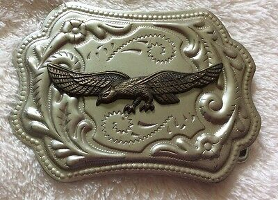 American Bald Eagle Gold and Silver Plated Western Belt Buckle Hong Kong