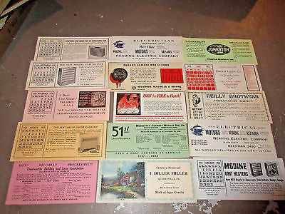 LOT OF 42 Vtg ADVERTISING INK BLOTTERS - MOST ARE UNUSED