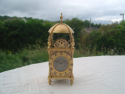 "Franklin Mint Reproduction Antique English Lantern Clock - 4.5"" High"