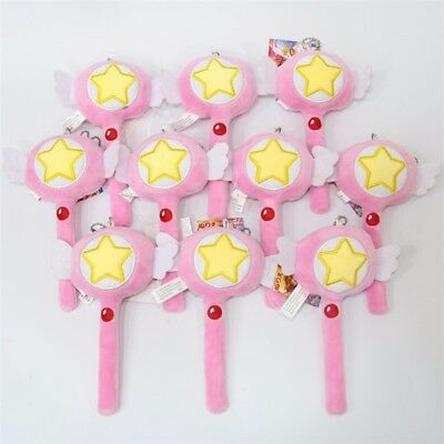 Cardcaptor Sakura Kinomoto Sakura Magic Wand Star Key Plush Toy Keychain Keyring