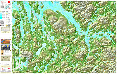 Trakmaps 537 Paper chart for Gouin Reservoir South-East Region