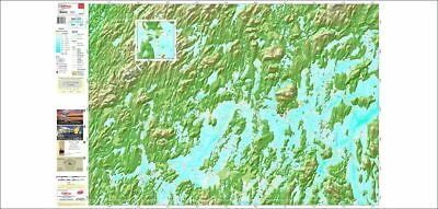 TRAKMAPS 535 Paper chart for Gouin Reservoir North-East Region