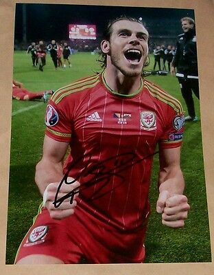 Gareth Bale Wales Authentic Genuine Signed 12X8 Photo