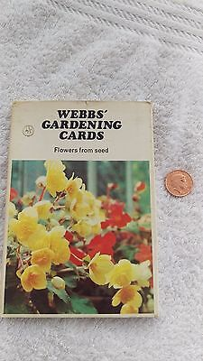 WEBBS Gardening Cards Flowers From Seed   1960s