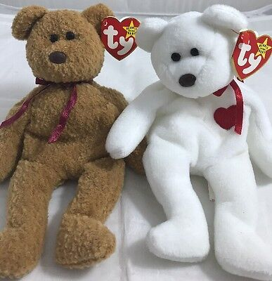 TY BEANIE BABY Bears - Valentino And Curly Lot Of 2 -  9.74  738b0568ce4