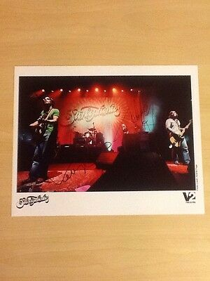 "Signed-Stereophonics-10""x 8"" Colour Official V2 Records Photo-Autographed By 2-M"