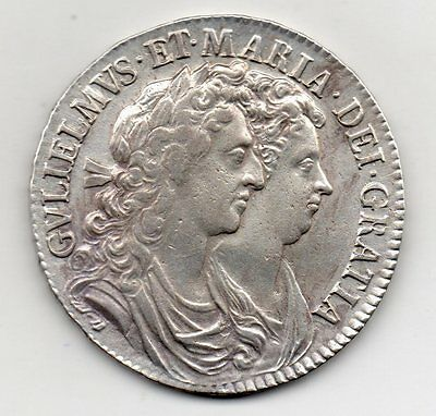 1689 Half Crown, William And Mary, High Grade
