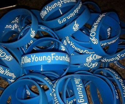 Official Ollie Young Foundation Wristbands - help fund brain tumour research!