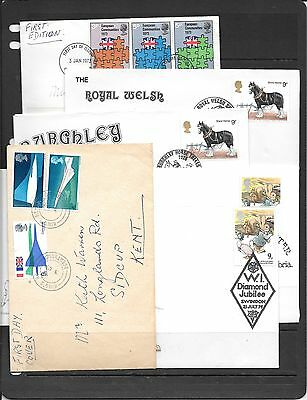 Gb Collection Of Stamps On Envelopes C523