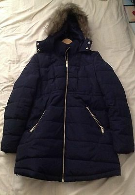 H&M Mama Eur Xs Navy Blue Maternity Coat