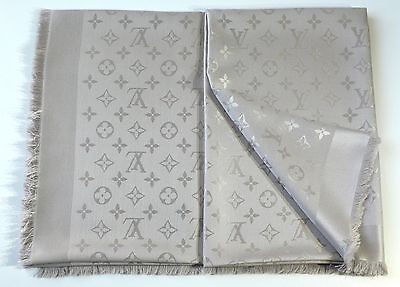Louis Vuitton Monogram scarf beige M 71336 Original Authentic