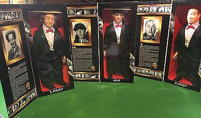 Three Stooges Dolls Never Opened 1997 Larry Moe Curly Collector Edition Mint