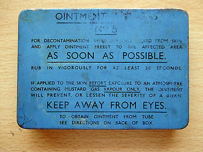 WW2 1942 OINTMENT ANTI-GAS No.5 Tin