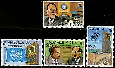 ANGUILLA Sc#927-930 1995 United Nations Anniversary Complete Mint OG NH