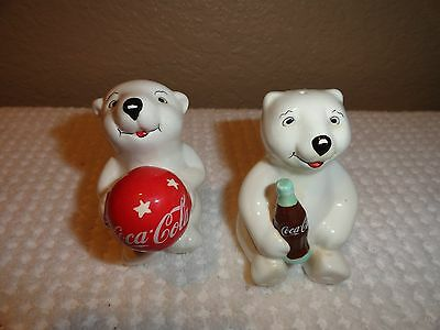 Coca Cola Polar Bears Salt and Pepper Shakers