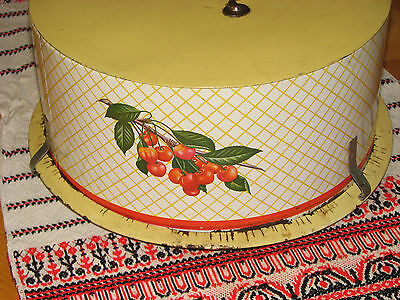 Vintage Decoware Cake Holder with Cherries..Shabby Chic