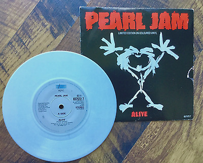 """PEARL JAM """"Alive"""" Limited Edition 7"""" white vinyl - Excellent condition"""