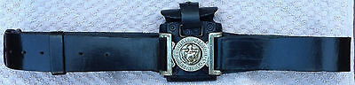 Vintage Rochdale Police belt with ammo pouch