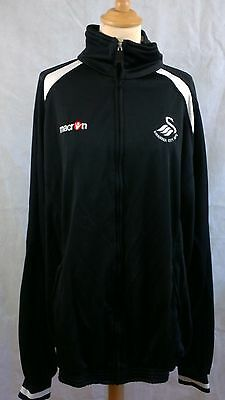 Swansea City AFC Football training trackie jacket Macron black  size XXXXL (4XL)