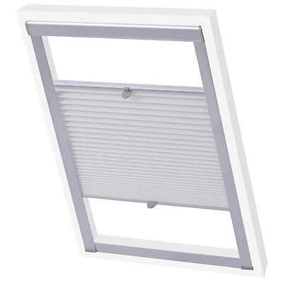 #Skylight Loft Roof Velux Window Pleated Blinds Covers UV-resistant White 104