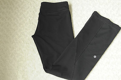 Lululemon Women's Athletic Pants Boot Cut Long Workout Yoga Black Stretch Size 8