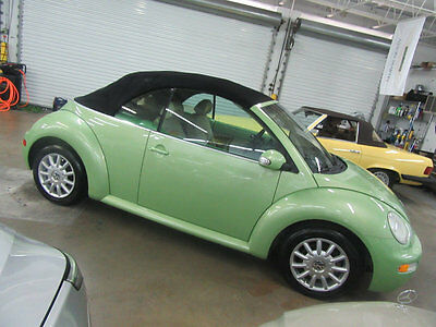 2005 Volkswagen Beetle-New 2dr GLS Automatic 72,000 MILES CYBER GREEN ON TAN AUTOMATIC STUNNING CAR NONSMOKER GARAGE KEPT