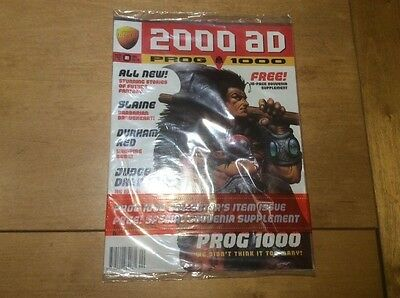 NEW Sealed 2000 AD Comic Prog 1000 with Free Gift 16 page Souvenir Supplement