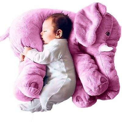Cute Pillow Elephant Children Soft Plush Toy Doll Baby Kids Nose Cushion Purple