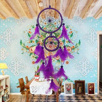 Dream Catcher Handmade With Feather Wall Hanging Decoration Ornament Gift