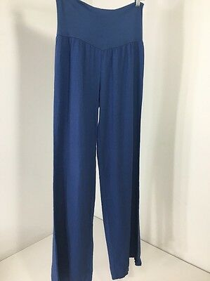 Pinkblush Maternity Women's Linen Pant Blue Small Nwt $38