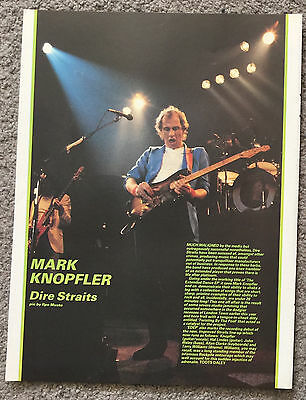 MARK KNOPFLER / DIRE STRAITS - 1983 Full page magazine poster article