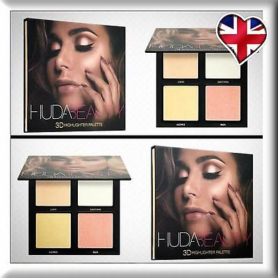 NEW Huda Beauty 3D Highlighter Palette GOLDEN SANDS Edition Make up UK Seller