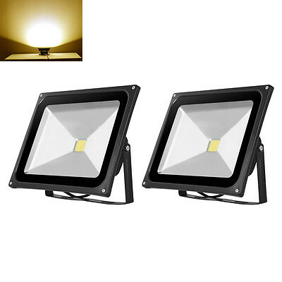 2X 50W LED Floodlight Outdoor Garden Light IP65 LED Security Lamp Warm White