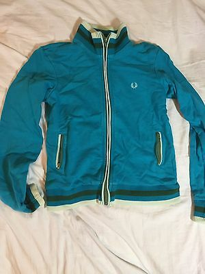 Kids Blue Fred Perry Zip Up Jumper