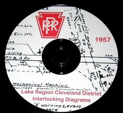 Pennsylvania Railroad 1957 Lake Region Interlocking Diagrams PDF Pages on DVD