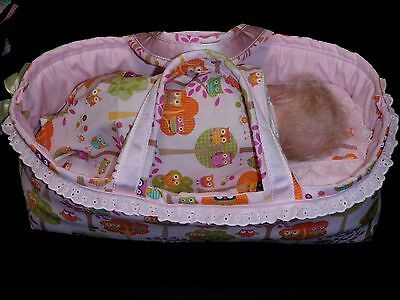 Gorgeous 4 Piece Carry Basket For Dolls Up To 18 Inches