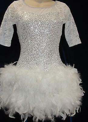 Feathers Lace Jazz Club Costume Jazz CosPlay Solo ASM AMED