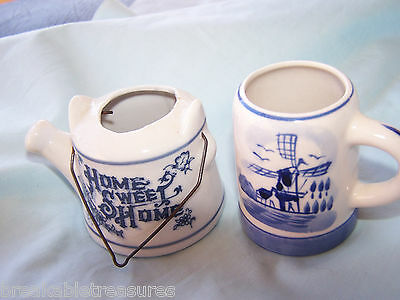 Nice Vintage Tiny Dutch Stein / Shotglass 2 1/2 Inches Tall & Watering Can