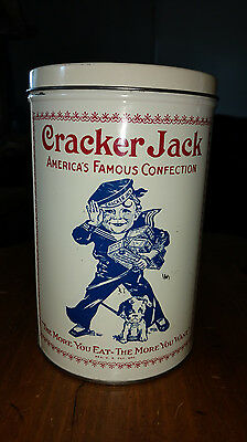 Vintage Collectible Tin Cracker Jack Box Package 1900 Replica 1980