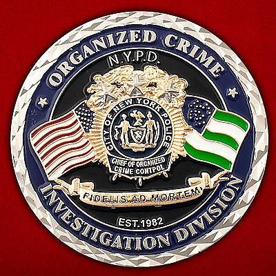 Challenge coin Bureau for combating organized crime of the police of new York