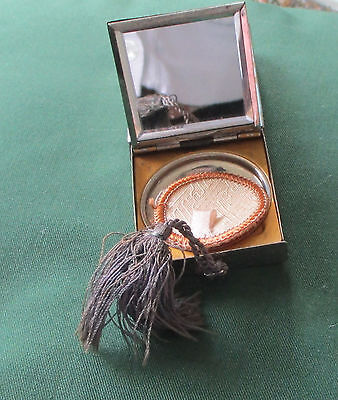 vintage 1920's Compact with mirror and Puff