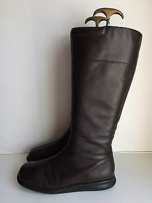 Ecco Brown Leather Knee High Boots - Size 7