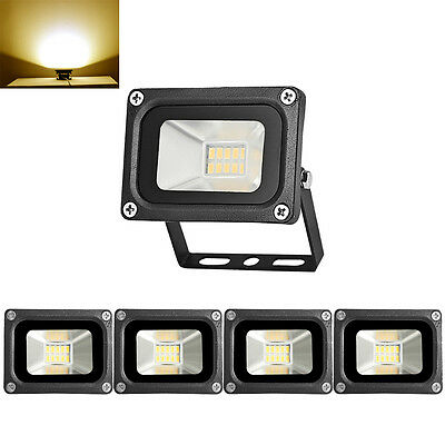 5X 10W LED Floodlight Outdoor Security Garden Lamp IP65 LED Light Warm White